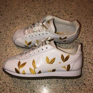 Golden Leaf Nike Cortez